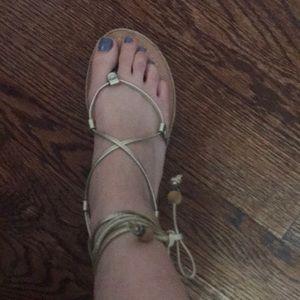 Tie around the ankle sandals